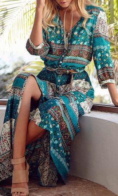 Amazing boho dress. Pick up yours at clothesbase.com