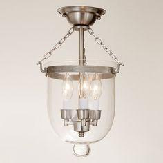 JVI Designs 101 3 Light Small Bell Jar Semi Flush Ceiling Light ( LOVE THAT  YOU Photo