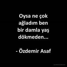 Özdemir Asaf Sözleri, Anlamlı Sözler, Özlü Sözler  www.masalperim.com