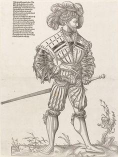 Artist: Deutsch, Hans Rudolf Manuel and Monogrammist IW, Title: A Landsknecht, In Profile, Date: 1547