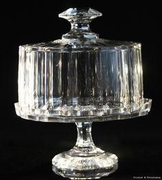 Baccarat, présentoir en cristal taillé à pan, avec cloches, vers 1830