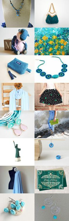 BlueGreen by Sophie R on Etsy--Pinned with TreasuryPin.com