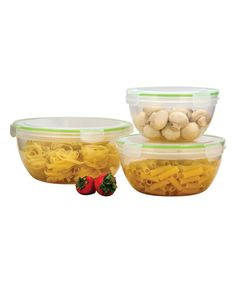Look what I found on #zulily! Six-Piece Large Round Click & Lock Storage Containers #zulilyfinds