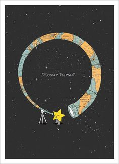 Discover Yourself Inspiring Poster Design ilovedoodle1 Cute Inspiring Posters You Would Love to Buy | A Collection From ilovedoodle