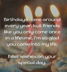385 Best Happy Birthday Quotes for Friend images