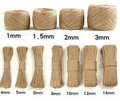 LanLan Handmade Jute Rope DIY Vintage Rope Decoration: Rope 100 Meters 1 Volumes of Yellow Soil Diy Home Crafts, Garden Crafts, Deco Tape, Twine Crafts, Jute Twine, Macrame Patterns, Sisal, Creations, Etsy