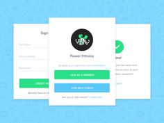Check out this Sign up flow by Adrian Goia  on our Dribbble page.