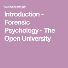 Forensic Psychology college subjects mecc