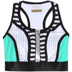 76f238a7a16cc MONREAL LONDON Striped Bra Top ( 212) ❤ liked on Polyvore featuring  activewear