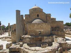 St. Paul's Pillar at Ayia Kyriaki Chrysopolitissa http://hometownbetty.com/our-last-time-in-paphos-cyprus/