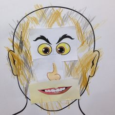 Cutout lots of eyes, nose and mouth. Let your students choose their own parts. Help them paste the parts on a blank face while making sure they know each parts. Let them color it after. Show their arts to everyone in the class!