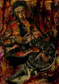 """Saatchi Art Artist CARMEN LUNA; Collage, """"43-Collagemania. Keith Richards."""" #art"""