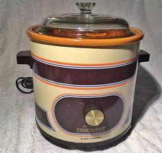 Vintage Retro Orange Rival Crock Pot Slow Cooker Qt Model No Lid for sale online Rival Crock Pot, Crockpot Ideas, Crock Pot Slow Cooker, Retro, Brown, Model, Vintage, Scale Model
