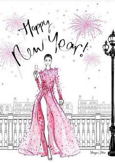 Happy New Year Pictures, Happy New Year Quotes, Happy New Year Wishes, Happy New Year Greetings, Quotes About New Year, Happy New Year 2019, Megan Hess Illustration, New Year Illustration, Illustrations