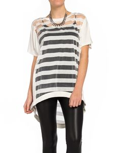 Striped Sheer Screen Shirt