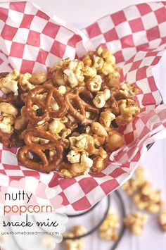 Nutty Popcorn Snack Mix and a $150 Gift Card Giveaway - your homebased mom