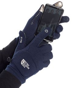 The North Face Gloves, Etip Gloves - Womens - Macy's    in black  doesnt have to be this brand... just something warm that i can use my phone with..