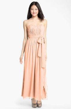 Donna Morgan Sweetheart Ruched Chiffon Gown | Nordstrom