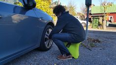 Changing tires on car is so easy with SASA! Made in Finland. Finland, Bucket, Blazer, Car, Fashion, Moda, Automobile, Fashion Styles, Blazers