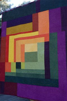 Riot of Color Quilt. Quilts by Design via Etsy.