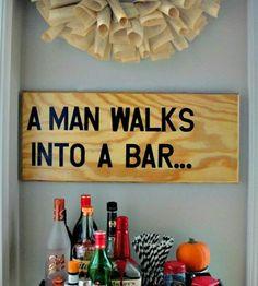 A Man Walks Into a Bar Wood Wall Art | Art Pieces | Canton Box Co. | Scoutmob Shoppe | Product Detail
