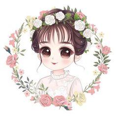 See More in Sejuta Pin Cute Cartoon Pictures, Cute Cartoon Girl, Cartoon Pics, Cute Cartoon Wallpapers, Girly Drawings, Anime Girl Drawings, Anime Art Girl, Chibi, Portrait Cartoon