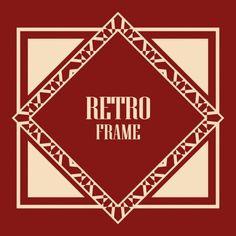Art Deco Frame - Stock Vector , #Aff, #Deco, #Art, #Frame, #Vector #AD Graphic Design Portfolio Examples, Art Deco Borders, Art Deco Illustration, Borders And Frames, Art Deco Fashion, Free Vector Images, Retro Vintage, Converse, Typography