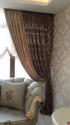 28 Curtains Decor Trending Now curtains valance croscill windowtreatments Interior Decorating Styles, New Interior Design, Home Decor Trends, Curtain Designs For Bedroom, Living Room Decor, Bedroom Decor, Living Room Tv Unit Designs, Home Curtains, European Home Decor