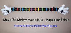 Make This Mickey Mouse Hands Magic Band Display Disney World Vacation, Disney Vacations, Disney Trips, Walt Disney World, Disney Travel, Disney Diy, Disney Crafts, Disney Love, Disney Stuff