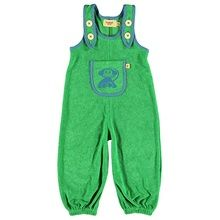 Albababy green alpha crawler dungarees
