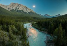 Cline River in Alberta, Canada.