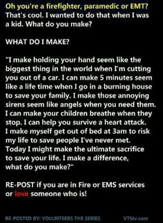 For all of our emergency service men and women