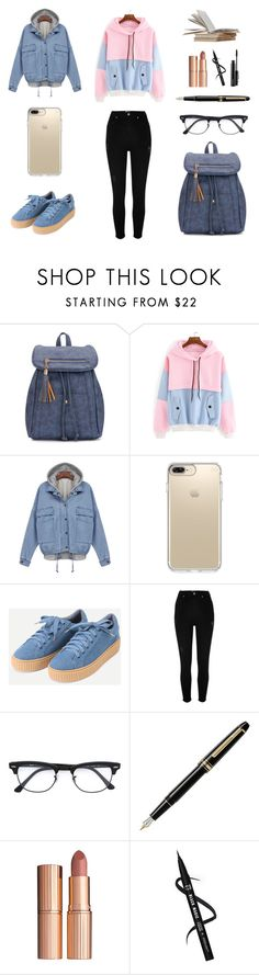 """SheIn 5/IX"" by hedija-okanovic ❤ liked on Polyvore featuring Speck, River Island, Ray-Ban, Montblanc, Charlotte Tilbury, MAC Cosmetics and shein"