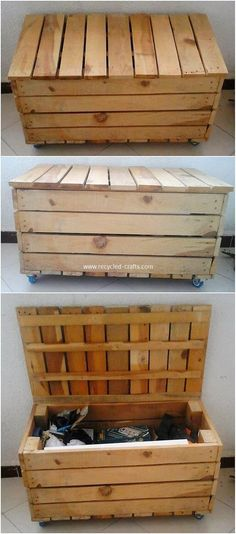 Useful DIY Projects for Reusing Old Wooden Pallets: Wood pallets do give you out with so many furniture idea options to bring your house closer to the picture of being the dream. Pallette Furniture, Pallet Garden Furniture, Painting Wooden Furniture, Reclaimed Wood Furniture, Pallet Chair, Pallet Patio, Country Furniture, Furniture Ideas, Furniture Design