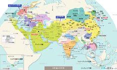 8世紀の世界地図 - 世界の歴史まっぷ (更新) #無料ダウンロード #世界地図 #歴史地図 #タラス河畔の戦い #トゥール・ポワティエ間の戦い #アッバース朝 #ビザンツ帝国 #唐