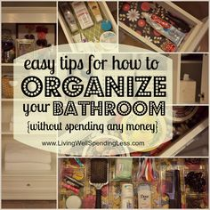 #DIY Organize Your Bathroom