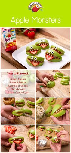 These little monsters are so cute we could eat them up!) Monster themed birthday party kids birthday party food Learn Our Story - Apple & Eve Monster 1st Birthdays, Monster Birthday Parties, First Birthday Parties, Birthday Party Themes, First Birthdays, Birthday Ideas, Fruit Birthday, Birthday Party Food For Kids, Little Monster Birthday