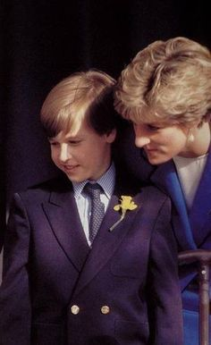 Princess Diana and Prince William In Wales - March 1991