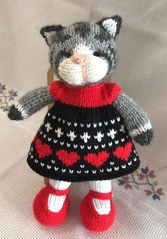 Ravelry: Little Cotton Rabbits Toys Patterns little cotton rabbits a knit and crochet community Knitted Bunnies, Knitted Cat, Knitted Animals, Knitted Dolls, Crochet Toys, Knit Crochet, Animal Knitting Patterns, Crochet Patterns, Garnstudio Drops