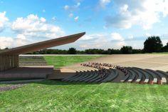 Render Auditorio al aire libre.  Diseño Arq. Miguel Echauri y Arq. Álvaro Morales.  www.echaurimorales.com