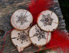SkaraZu / Zima na vidieku Wood Burning, Decorative Plates, Christmas, Home Decor, Xmas, Decoration Home, Room Decor, Navidad, Noel