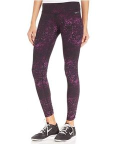 a72f5723fb035 Calvin Klein Performance Speckle-Print Leggings & Reviews - Pants & Capris  - Women - Macy's