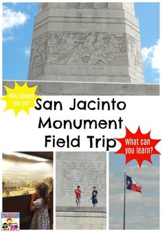 The San Jacinto monument makes a great field trip. When you study Texas history I recommend your take a San Jacinto monument field trip with your kids. Texas History, Us History, American History, San Jacinto Monument, Uss Texas, Texas Revolution, Mystery Of History, Family Adventure, Travel With Kids