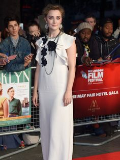 Saoirse Ronan attends a screening of 'Brooklyn' during the BFI London Film Festival on October 12, 2015 in London, England.   Karwai Tang, WireImage