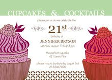 Cupcakes And Cocktails Birthday Invitation From Invite Shop Cute Cheap Party Decorations