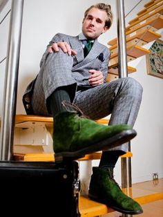 Tailor Patrick Johnson Rocking Green Boots