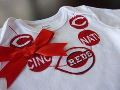 5718afdab997e Baby Girl McOsker (when there is one) will definitely wear this. Cincinnati  Reds Baseball MLB Necklace Onesie or by ThisPretty