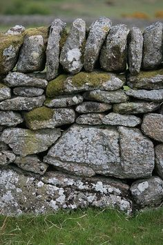 Ancient wall, Dartmoor, Devon, England
