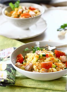 POTINGUES Y FOGONES: Cous cous with sword fish and vegetables