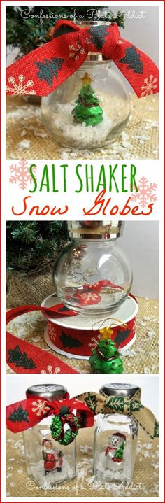CONFESSIONS OF A PLATE ADDICT Fun and Easy Salt Shaker Snow Globes